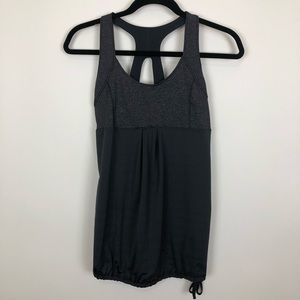 Old navy  active loose fit small bra tank grey top